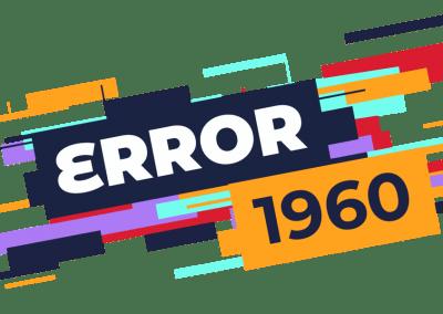 Logo error 1960 Team building virtuel
